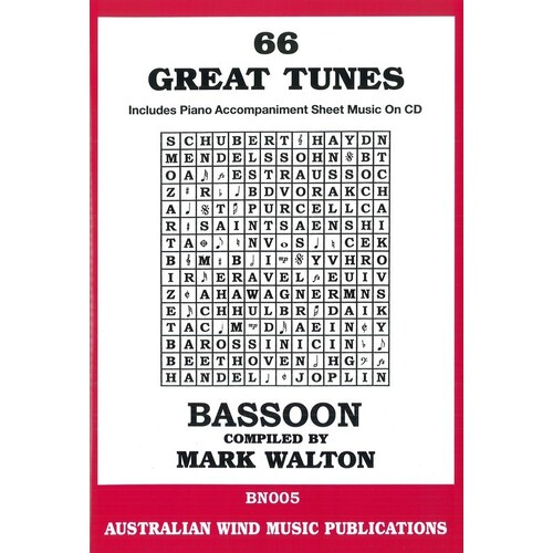 66 Great Tunes Bassoon Softcover Book/CD