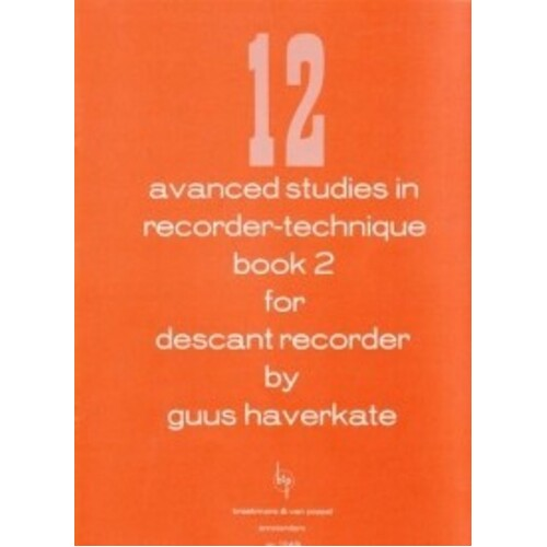 12 Advanced Studies In Recorder Technique Book 2 (Softcover Book)