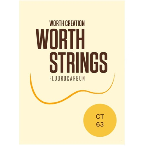 Worth Creations Clear Tenor Ukulele Ukulele Strings - 2 Restrings Per Packet ( CT )