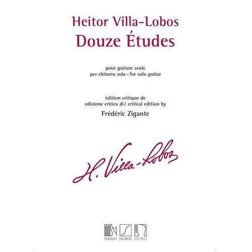 Villa-Lobas - 12 Etudes For Guitar (Softcover Book)