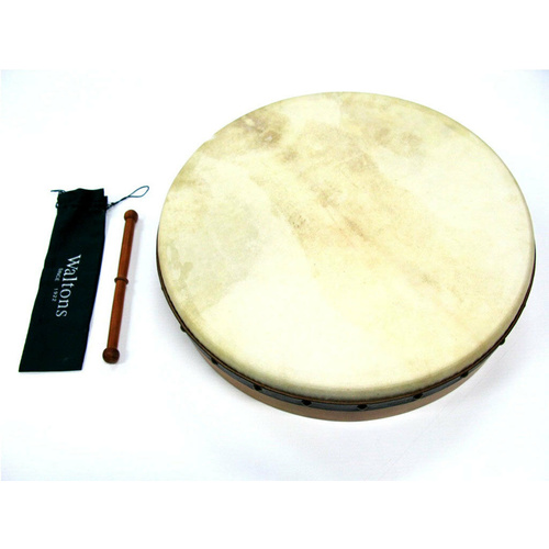 Waltons 18 Inch Pro Deluxe Bodhran 5 Ply Ages Oak Shell Premium Quality Head