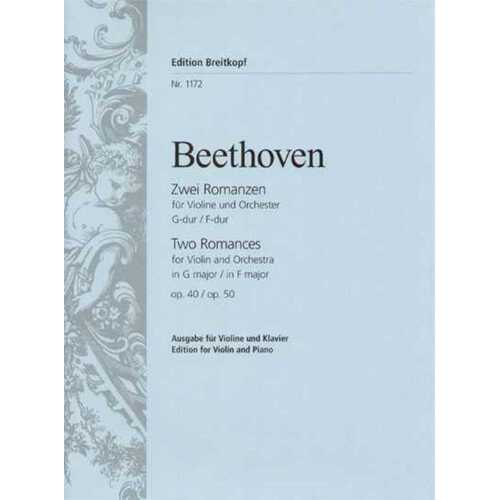 Beethoven - Romances Op 40 G Op 50 F Violin/Piano (Softcover Book)