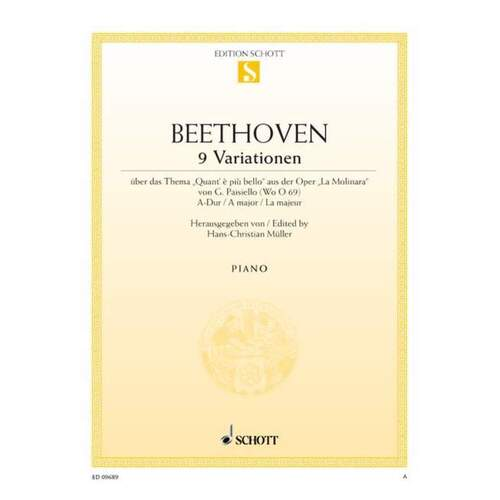Beethoven - 9 Variations On Theme Of Paisiello Piano (Softcover Book)