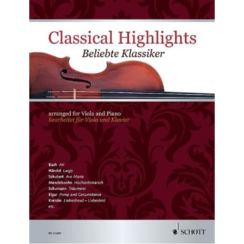 Classical Highlights Viola And Piano (Softcover Book)