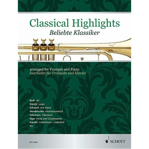 Classical Highlights Trumpet And Piano (Softcover Book)
