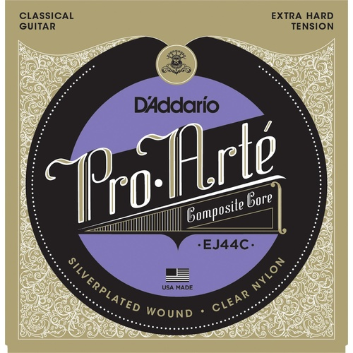 D'Addario EJ44C Pro-Arte Composite Classical Guitar Strings, Extra-Hard Tension