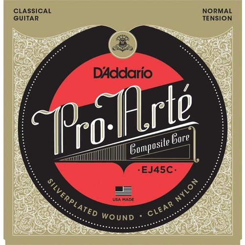 D'Addario EJ45C Pro-Arte Composite Classical Guitar Strings, Normal Tension