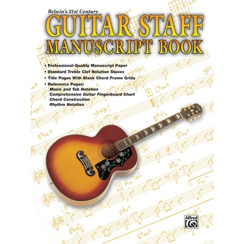 Guitar Staff Manuscript Book