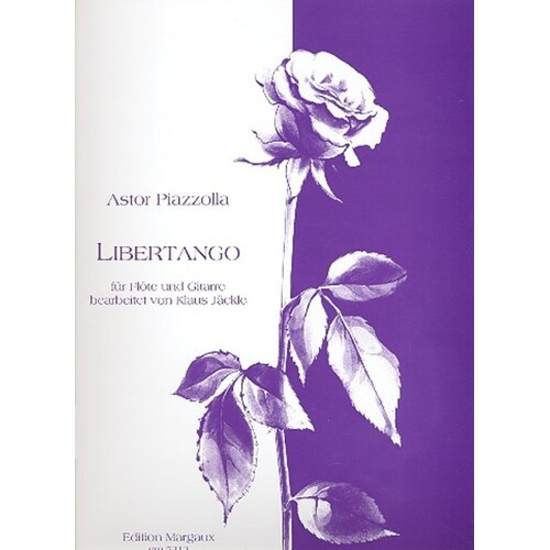 Piazzolla - Libertango For Flute And Guitar (Softcover Book)