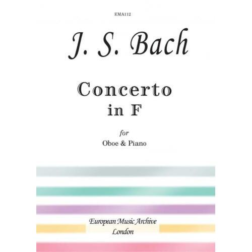 Bach - Concerto In F After Bwv 1053 Oboe/Piano (Softcover Book)