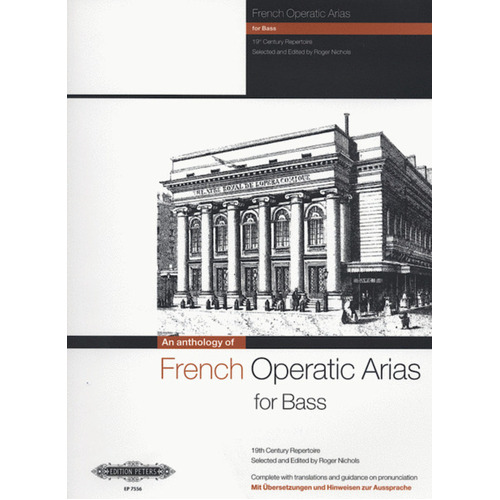 French Operatic Arias Bass 19Th Century Repertoire (Softcover Book)