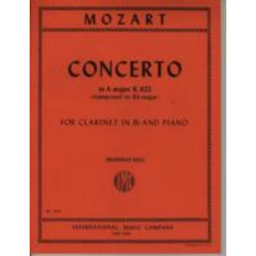 Concerto K 622 A clarinet In B Flat Piano (Softcover Book)