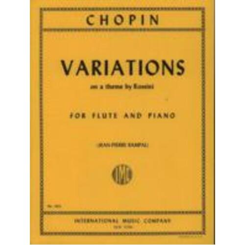 Chopin - Variations On A Theme Of Rossini Flute/Piano (Softcover Book)