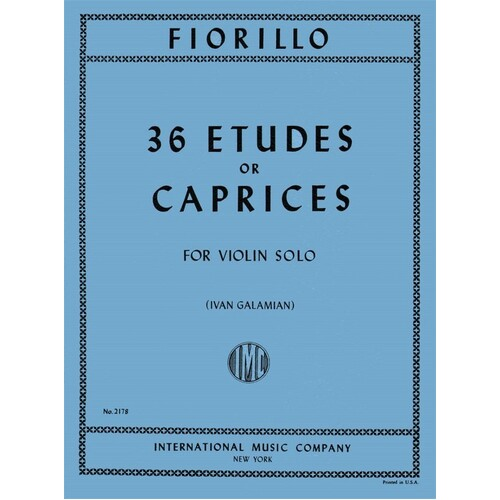 Fiorillo - 36 Etudes Or Caprices Violin (Softcover Book)