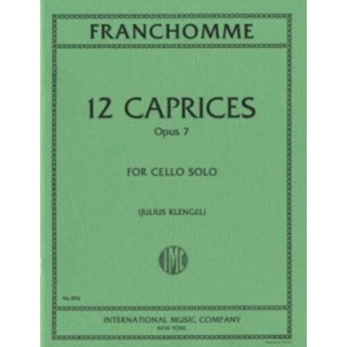 Franchomme - 12 Caprices Op 7 Cello Ed Klengel (Softcover Book)
