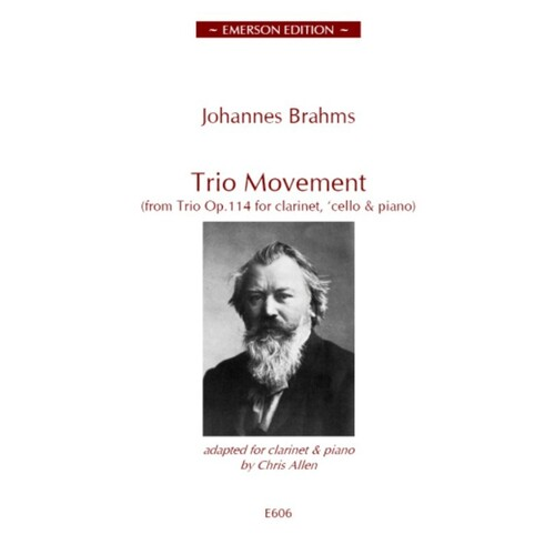 Brahms - Trio Movement From Op 114 Clarinet/Piano (Softcover Book)
