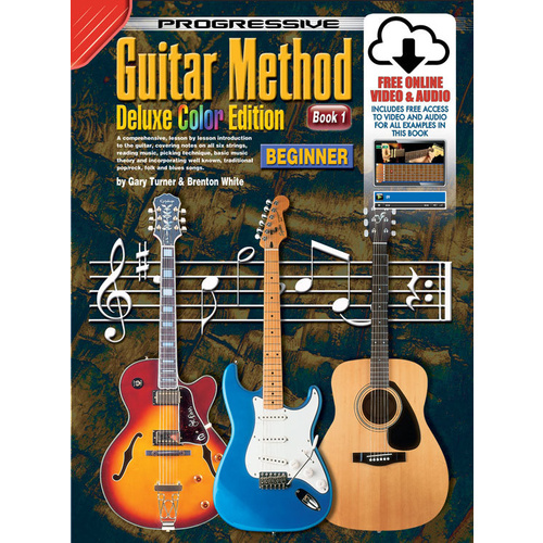 Progressive Guitar Method 1 Deluxe Edition Book/Online Video & Audio