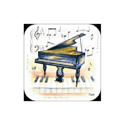 Piano Coasters Pack Of 4 Book