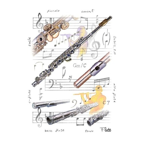 Greeting Card Flute Design (Card Only)