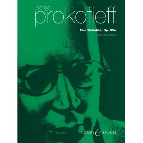 Prokofieff - 5 Melodies Op 35A Violin/Piano (Softcover Book)