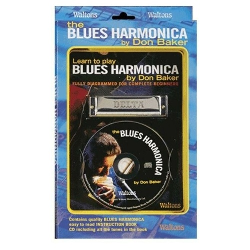 WALTONS M1549 Blues Harmonica Pack Key of C Includes Book and CD