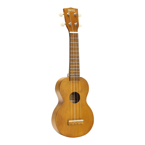 Mahalo Kahiko Series Soprano Ukulele - Learn 2 Play Pack (Transparent Brown)