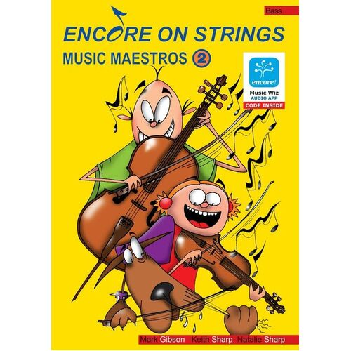 Encore On Strings Double Bass Book/CD/Midi Level 2 (Softcover Book/CD)
