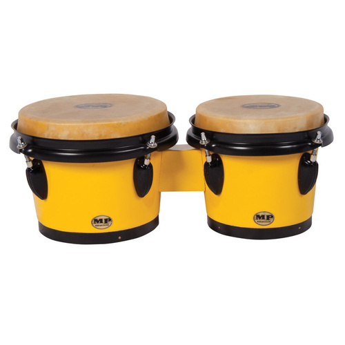 "MANO PERCUSSION - Bongo Drums, Yellow  Bongos, 7"" & 8"" skin heads, Wood"