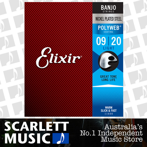 Elixir 11600 Nickel Plated Steel with POLYWEB Coating Light Banjo Strings