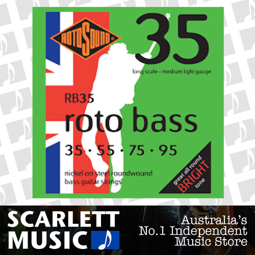Rotosound RB35 Rotobass Nickel Roundwound Bass Guitar Strings 35 - 95