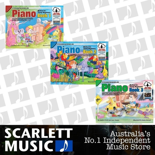 Progressive Piano Method For Young Beginners Books 1 2 3 w' Online Media Bundle