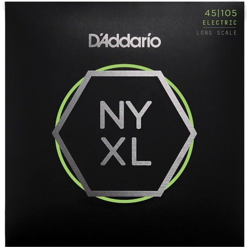 D'Addario NYXL45105 Nickel Wound Bass Guitar Strings, Light Top - Med Bottom, 45-105, Long Scale