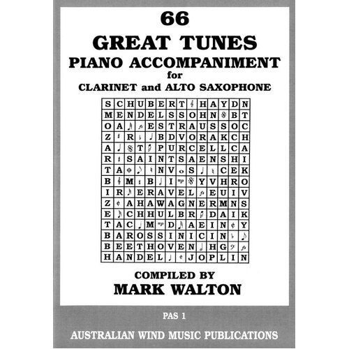 66 Great Tunes Alto Sax/Clarinet Piano Accompaniment (Softcover Book)