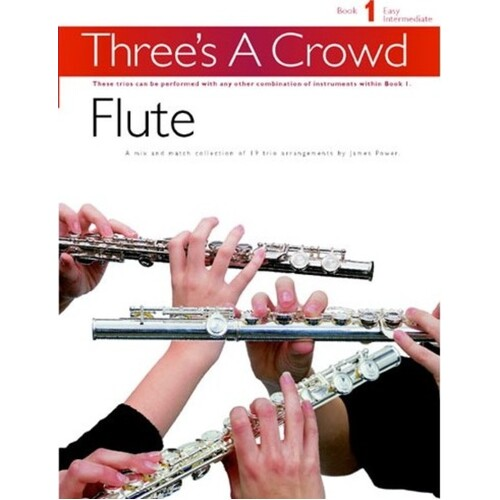 Threes A Crowd Book 1 Flute Trios Revised (Softcover Book)