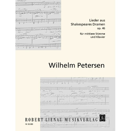 Lieder Aus Shakespeares Dramen Op 46 Low Voice/Piano (Softcover Book)