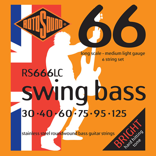 Rotosound RS666LC Swing Bass 6-String 30-125 Stainless