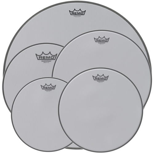 Remo Silent Stroke Mesh Rock Pack 22 10 12 16 14 snr Drum Head Skins