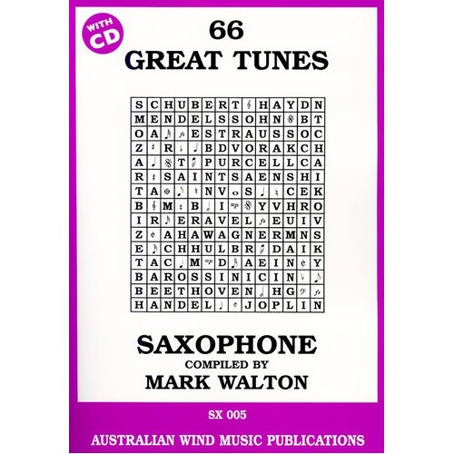 66 Great Tunes Tenor Sax Book/CD (Softcover Book/CD)