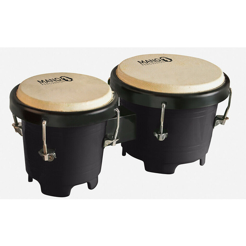 Mano Junior Bongo Drums Durable Plastic 4 Inch and 5 Inch Coloured