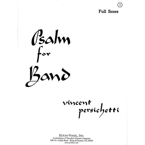 Psalm For Band Full Score (Softcover Book)