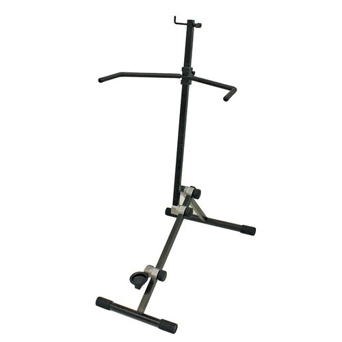 Xtreme Pro Cello Stand with Bow Holder Heavy Duty Steel Folds Flat