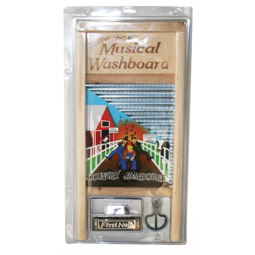TROPHY - Jamboree Kit Includes Washboard, Thimbles, Jaw Harp & Harmonica