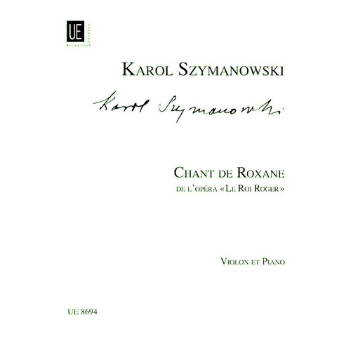 Chant De Roxane From King Roger Violin Piano (Softcover Book)