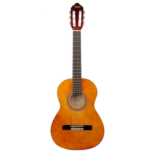 Valencia 3/4 Size Beginners Nylon Guitar VC-103 Natural - with 12 Months Warranty.