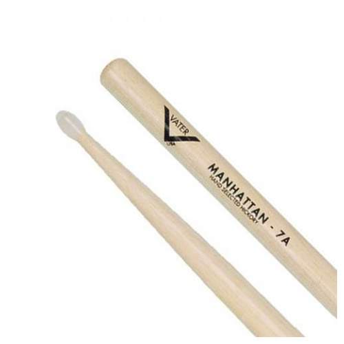 Vater Manhattan 7A Nylon Tip Hickory Drumsticks